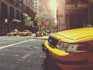 ways to commute in New York - Taxi on the street