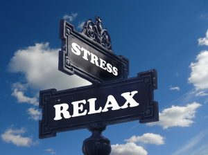 a stress relax sign