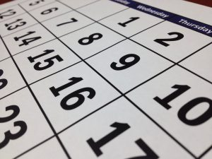 a calendar used by first-time renter in NYC