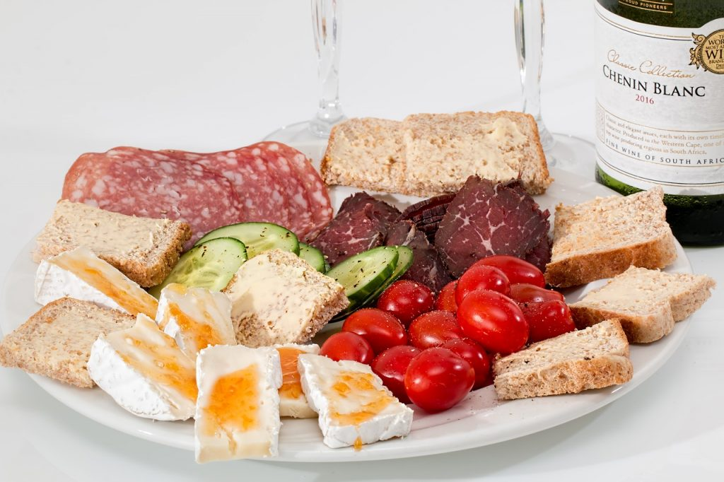 plate with snacks