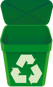 A recycling bin you can use to throw away some items you do not use before moving to a smaller apartment