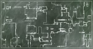 a floor plan on a chalk board