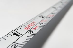 A meter measuring tape