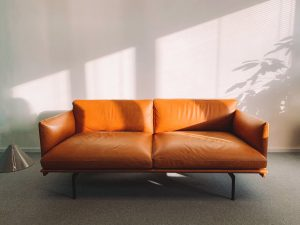 A brown couch