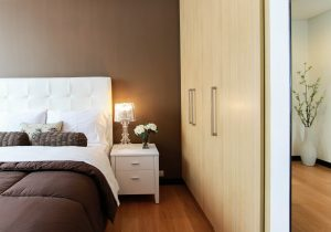 Move oversized furniture - king-sized bed, a wardrobe and a night table