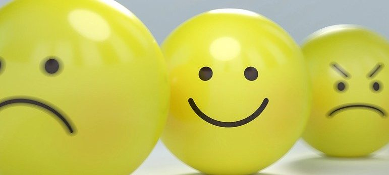 smiley faces representing emotional impact of moving house