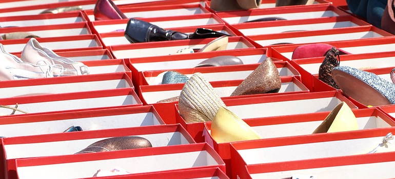 Original shoe boxes used to store shoes safely