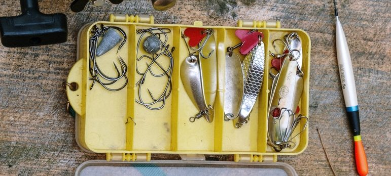 Use original boxes to pack fishing equipment for moving