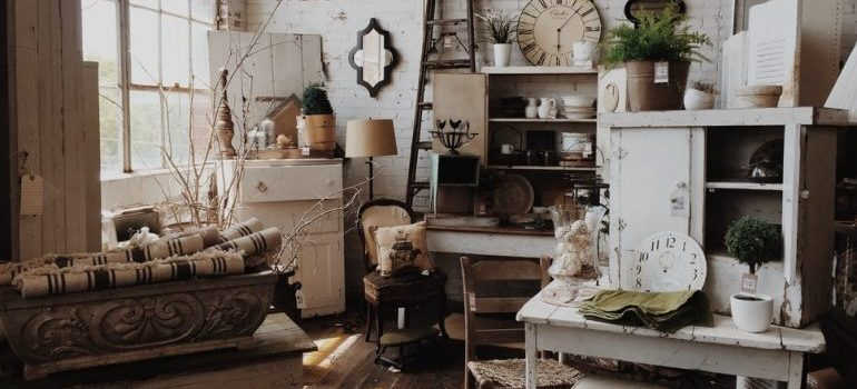 A room full with antiques