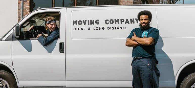 Two movers ready for moving