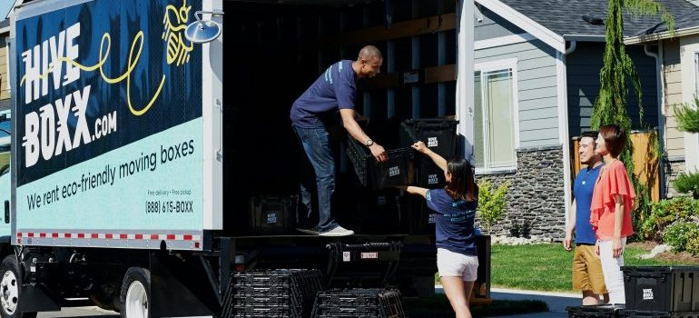 people packing for a move