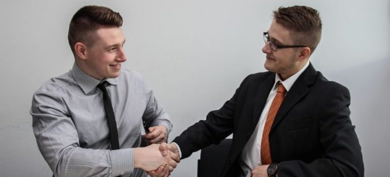 Two man making a deal